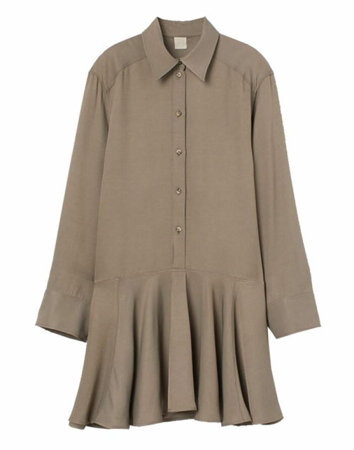 beige skjortklänning
