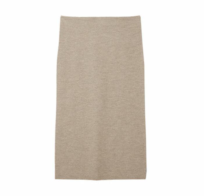 beige stickad kjol