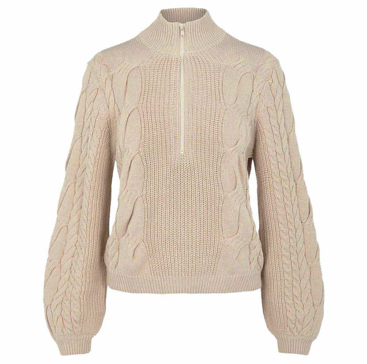 beige stickad tröja