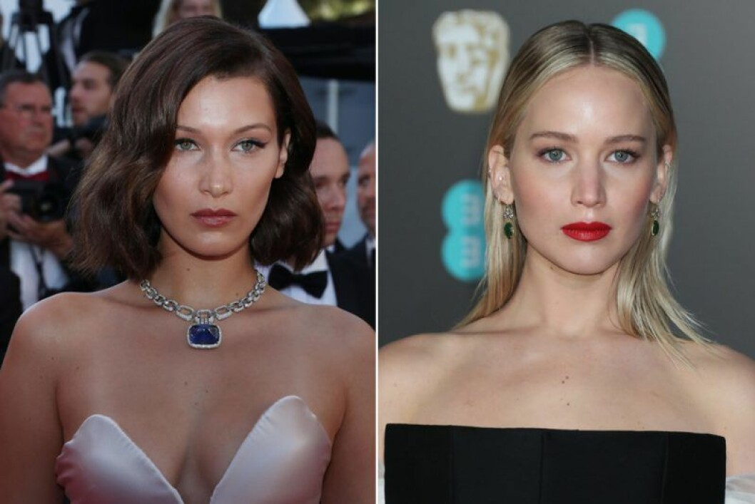 Bella Hadid och Jennifer Lawrence