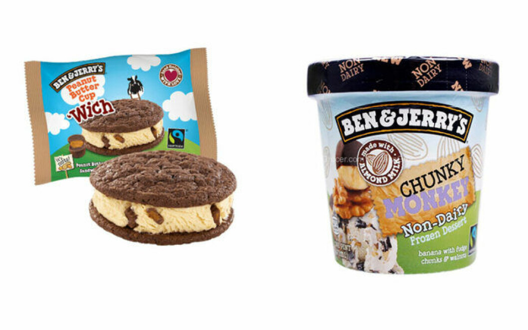 Ben & Jerry's glassar 'Wich Peanut Butter cup och Vegan Chunky Monkey försvinner.