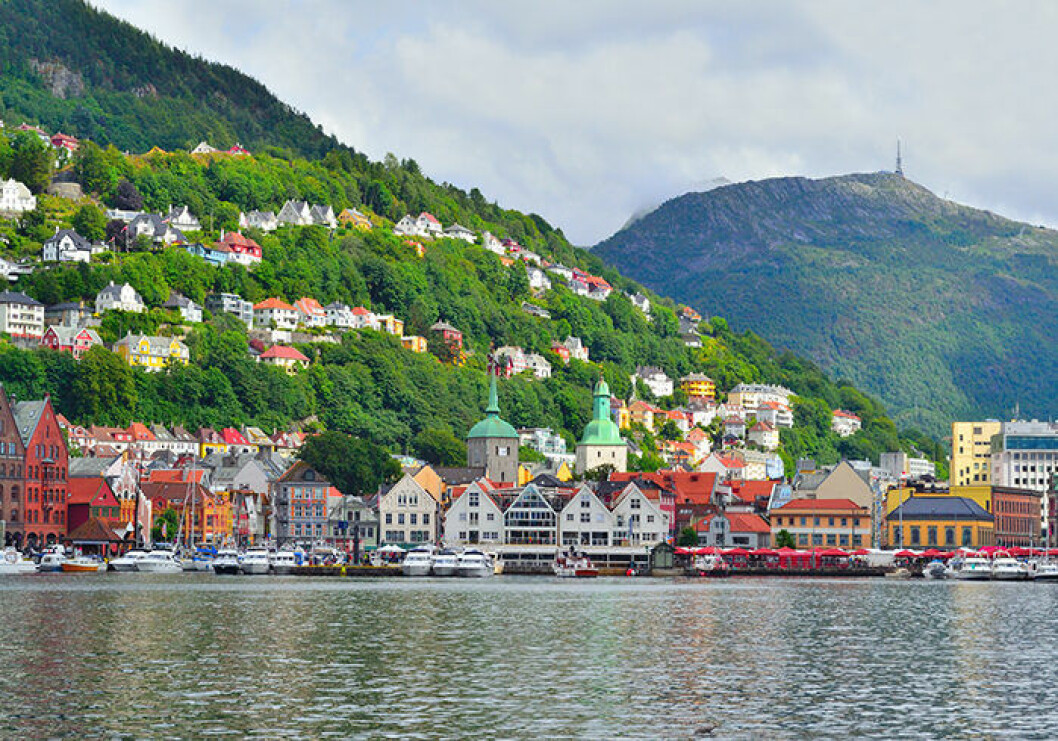 Besök staden Bergen i Norge – med tåg