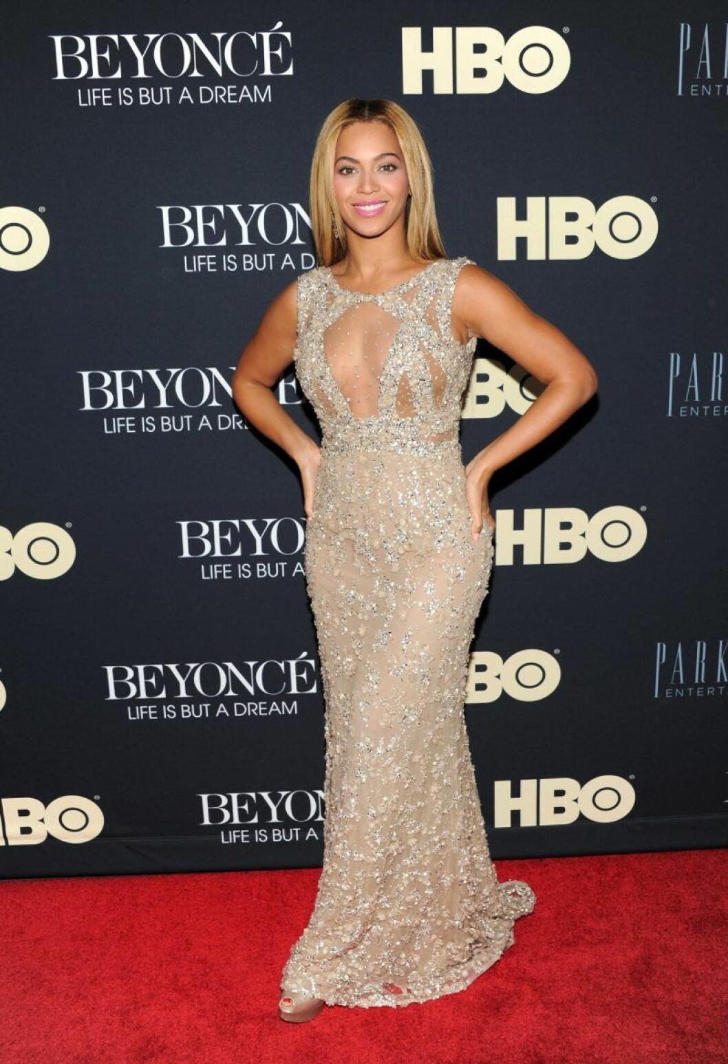 Beyonce på premiären av Life is a dream