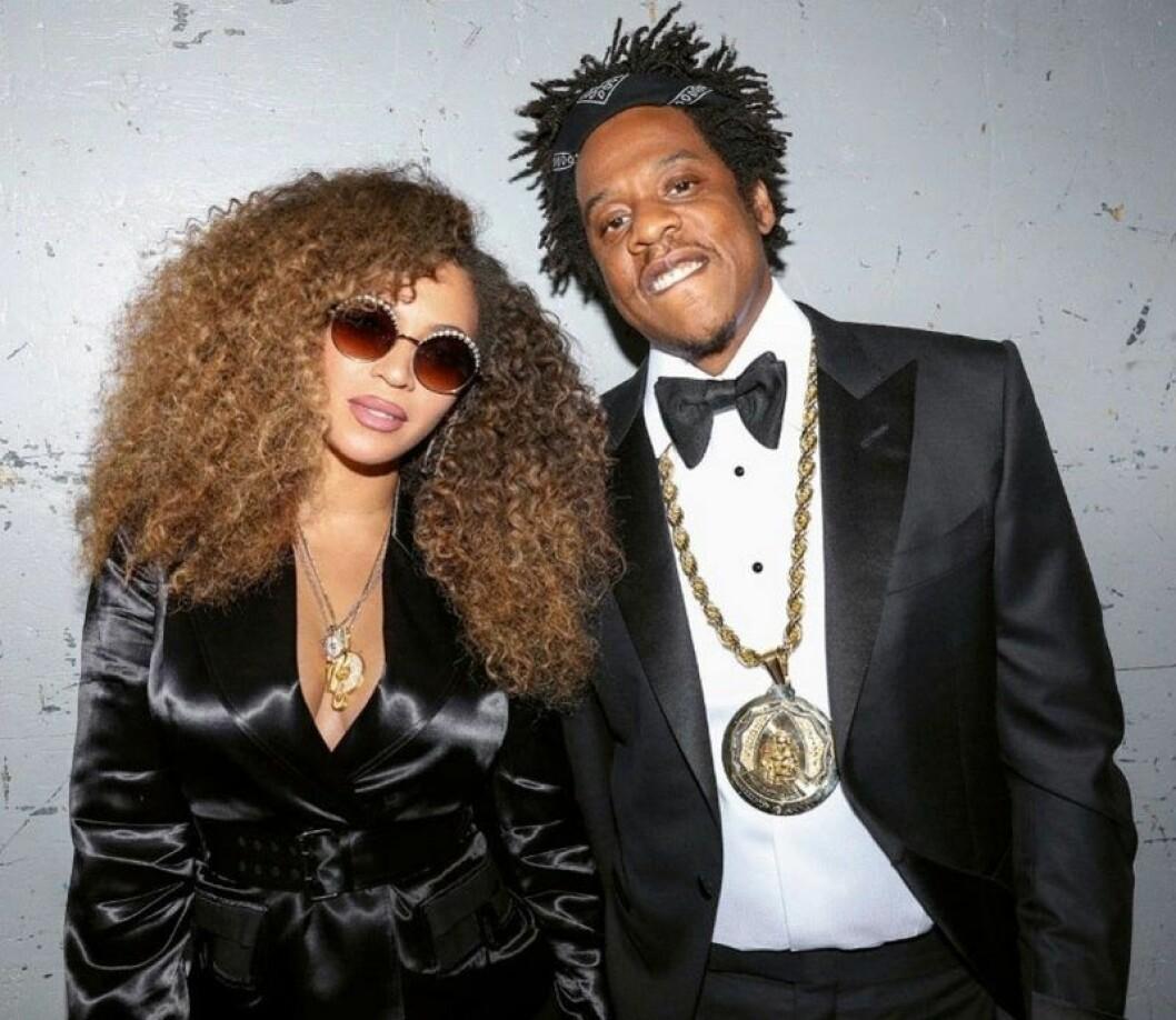 Beyoncé och Jay-Z på röda mattan