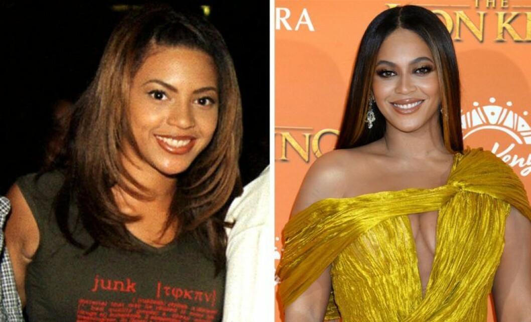 Beyoncé som tonåring och idag