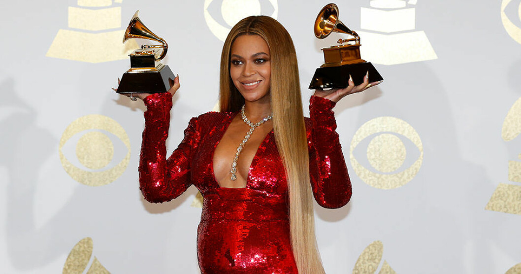 Beyoncé på Grammy Awards 2017.