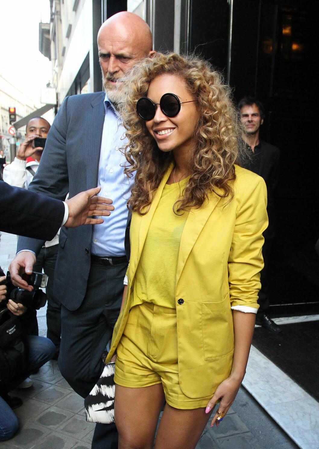 Beyoncé 2012, fem månader efter Blue Ivys förlossning.