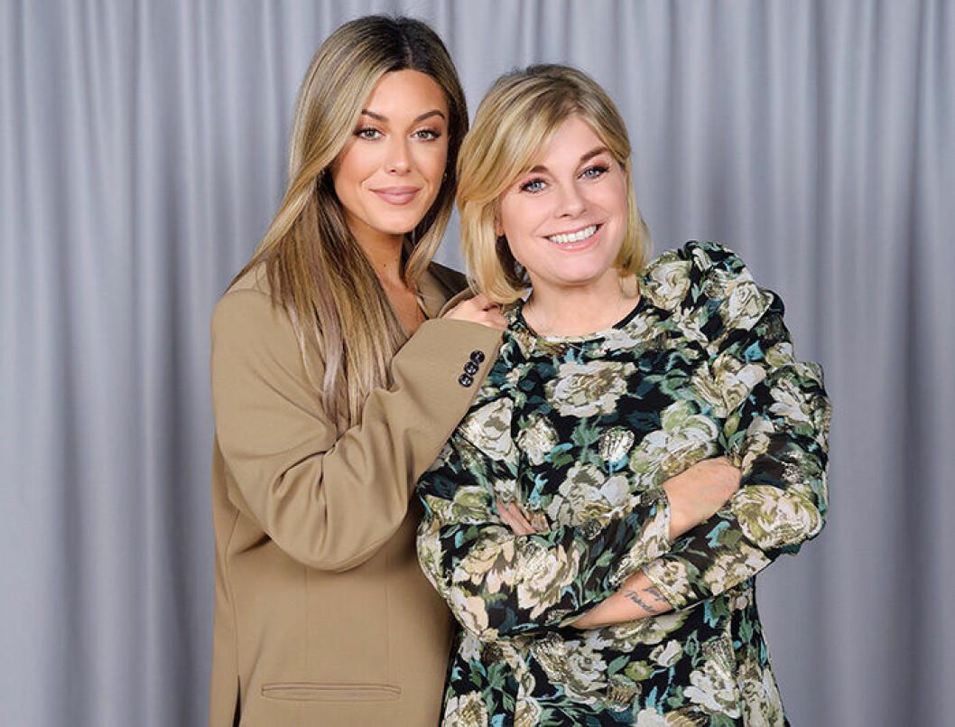 En bild på Bianca Ingrosso och Pernilla Wahlgren som är med i tv-programmet Wahlgrens värld.