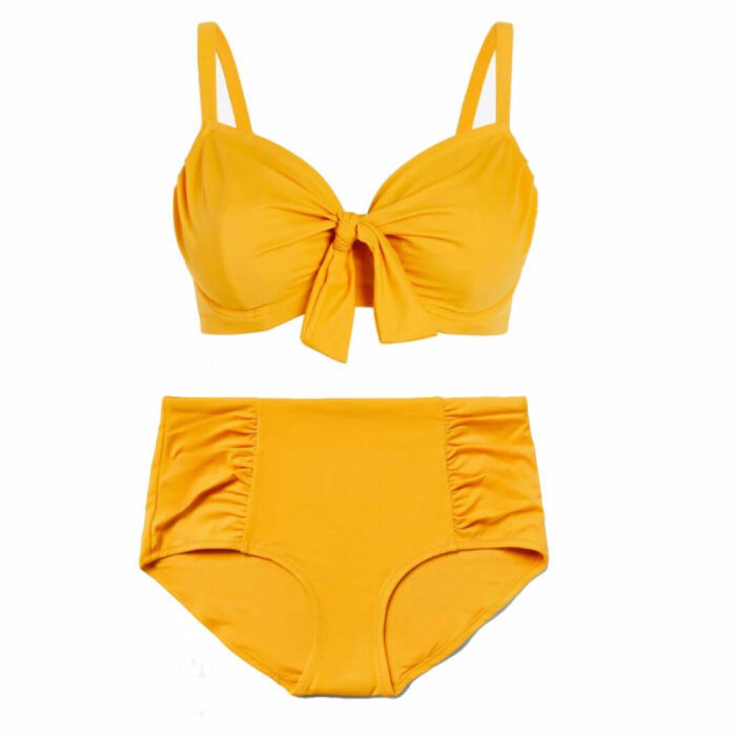Gul bikini med hög midja från Lindex