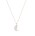 Halsband med tunn silverkedja och en pärla som berlock. Halsband från Sophie Billie Brahe.