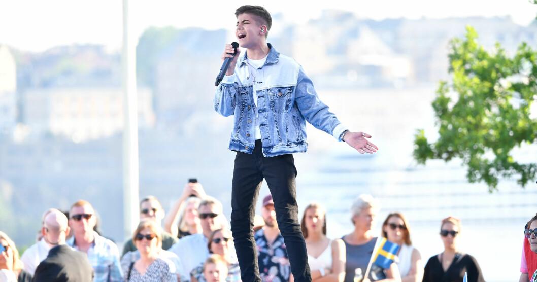 Bishara Morad uppträder på Allsång på Skansen den 16 juli 2019.