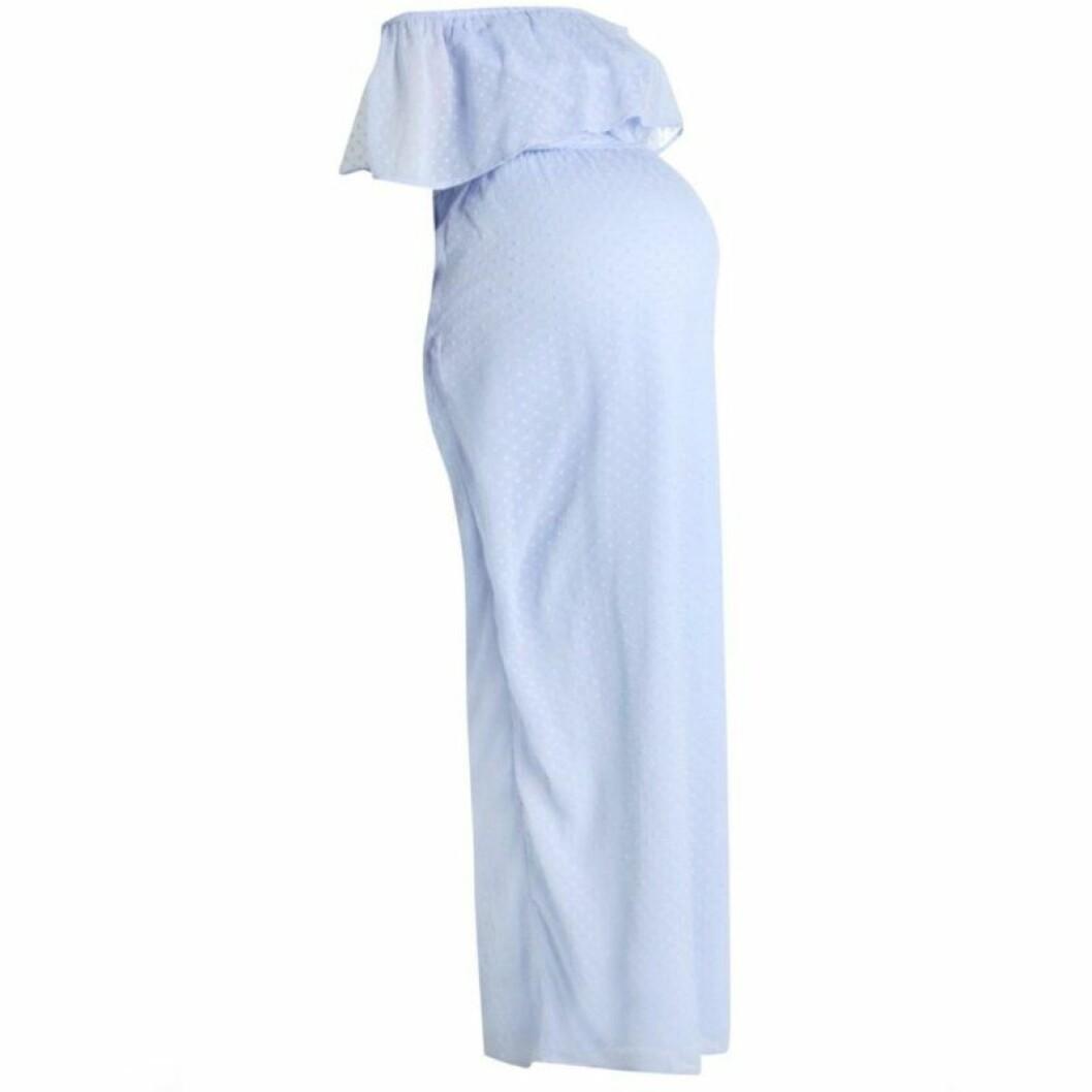 Blå gravidklänning