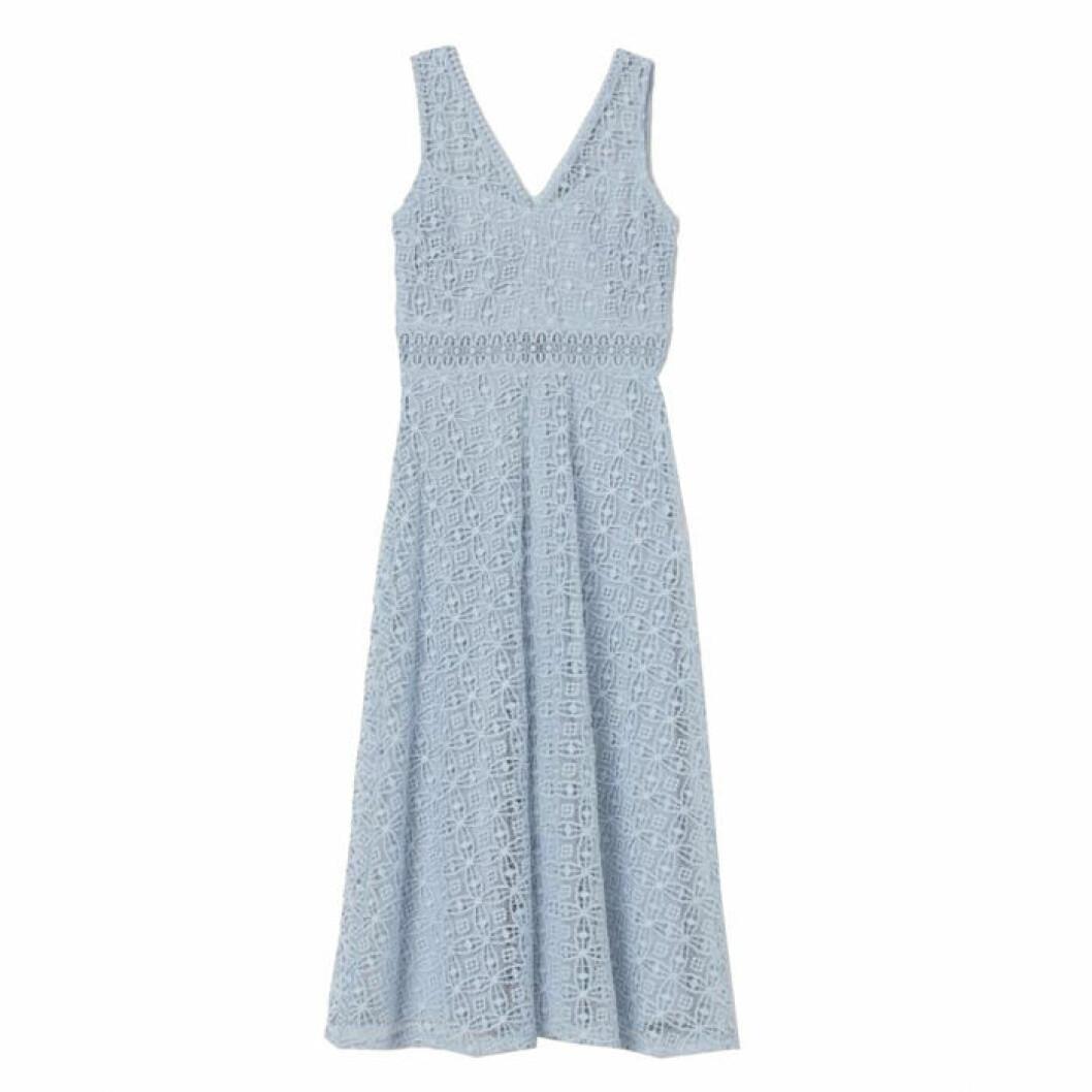 Blå spetsklänning från h&M