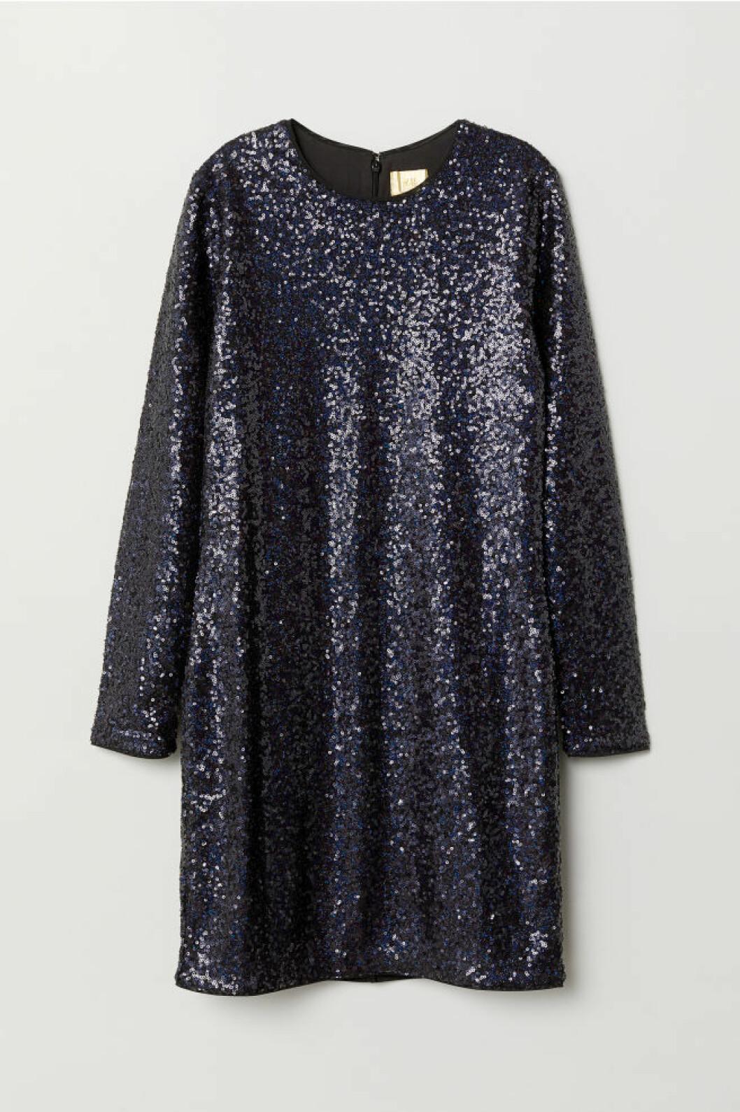 Blå paljettklänning till nyår