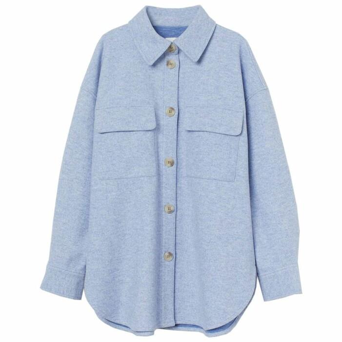 ljusblå skjortjacka från H&M