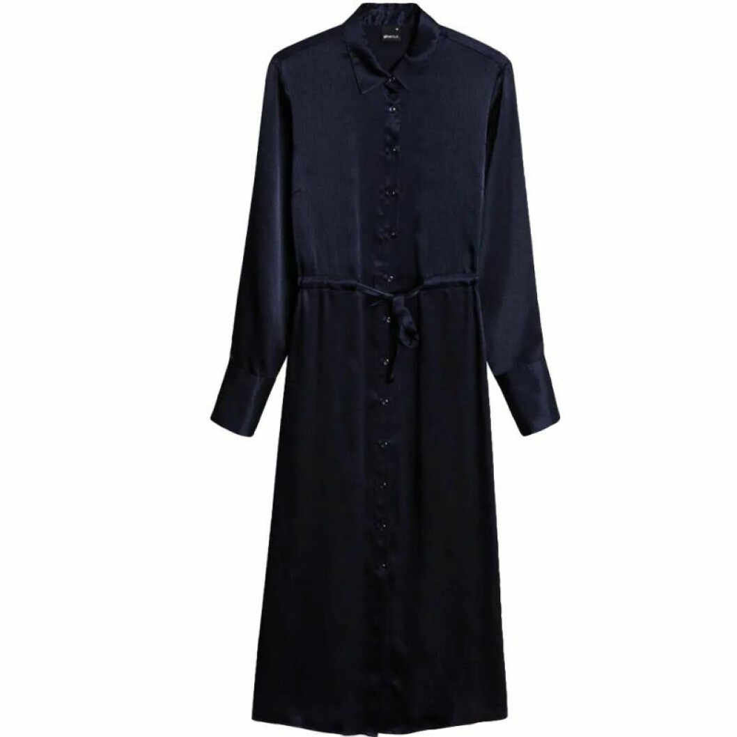 Blå skjortklänning från Gina tricot