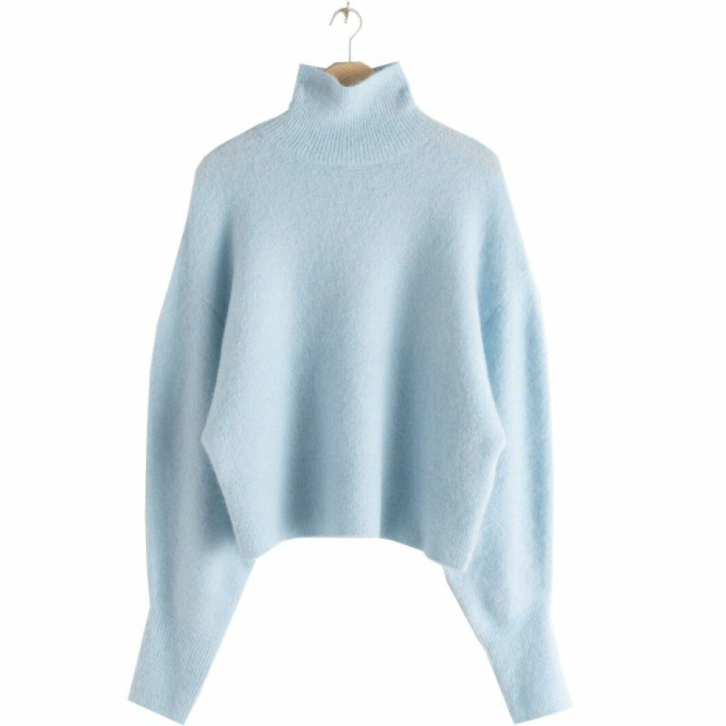 Ljusblå stickad tröja från & Other Stories
