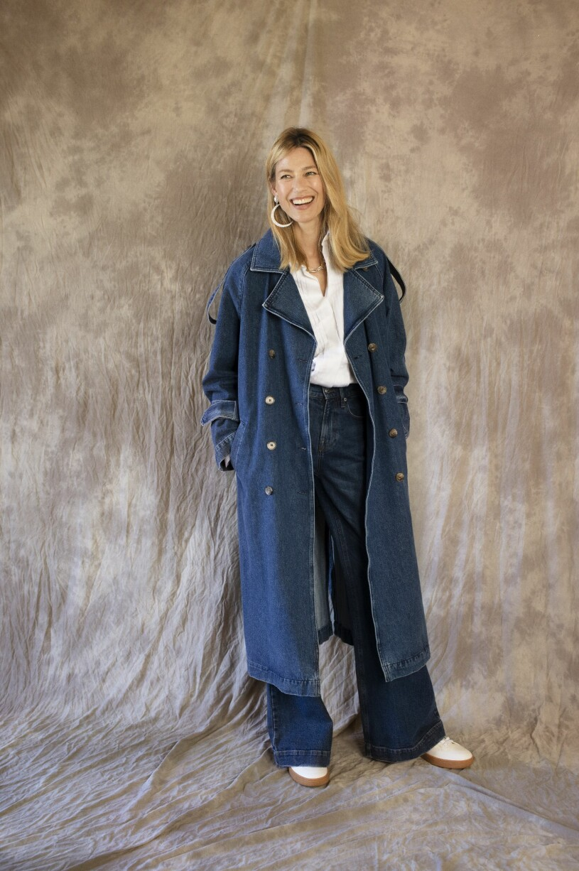 Blå trenchcoat Notes du Nord aw 20 Femina