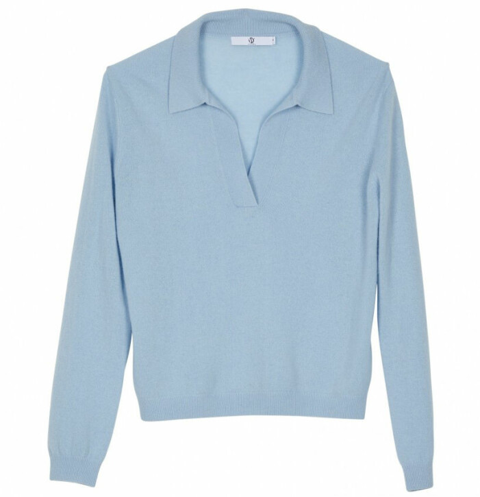blå tröja kashmir