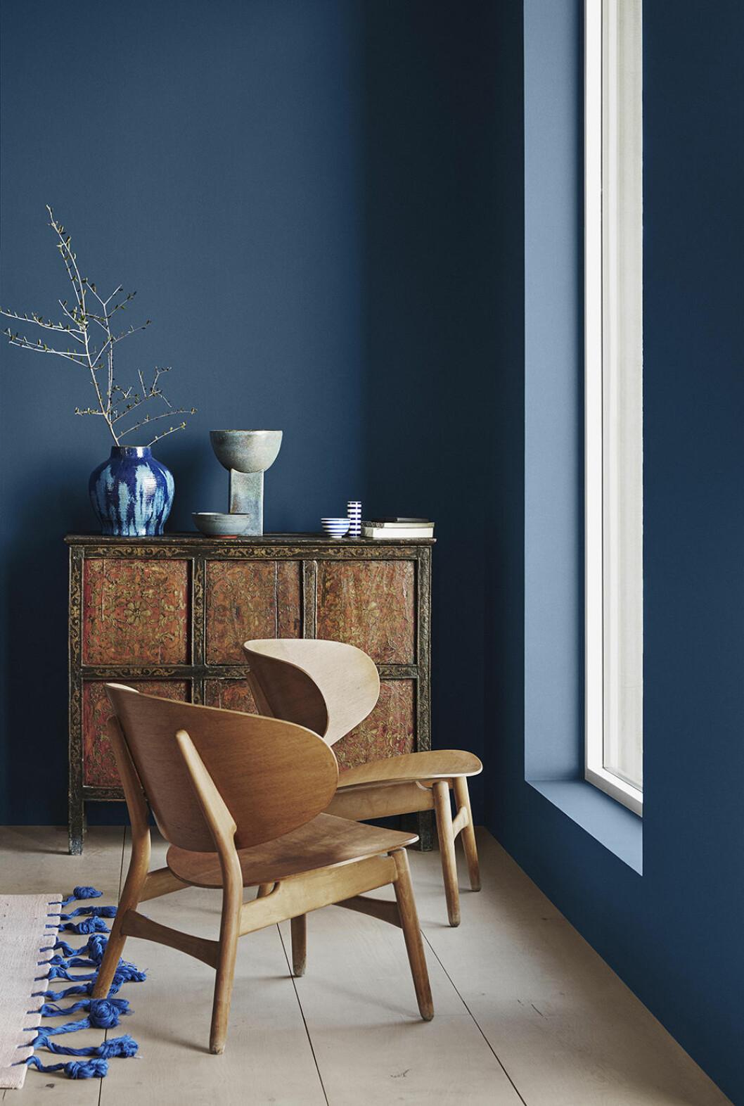 Statement blue - fin blå väggfärg från Jotun 2020