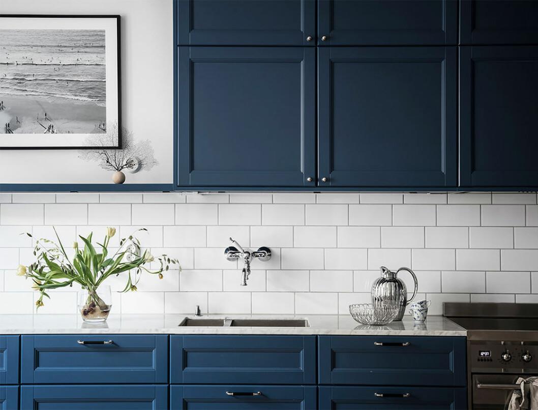 Köksluckor i blått