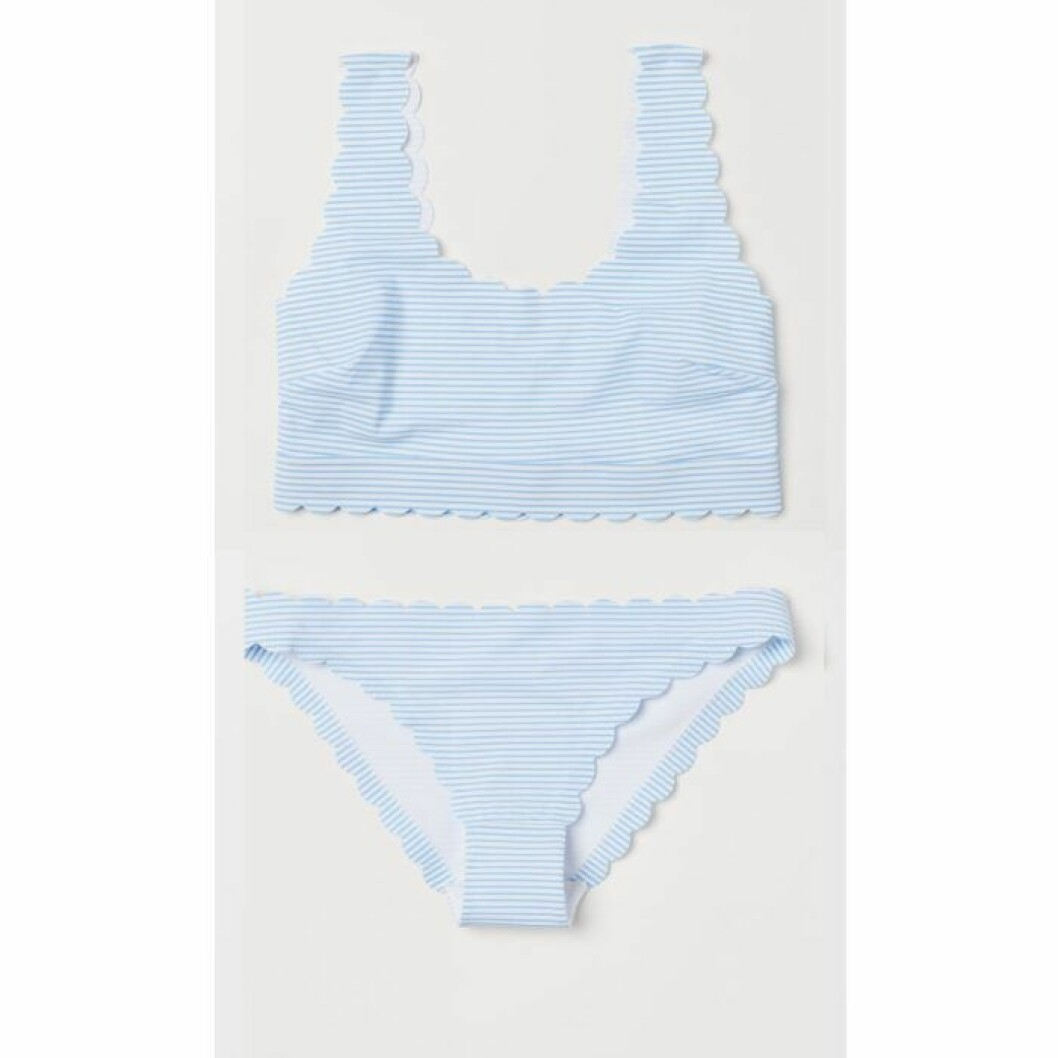 Blåvitrandig bikini