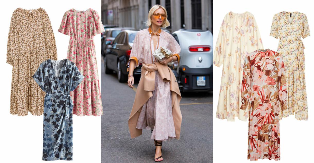 blommiga klänningar dam 2021