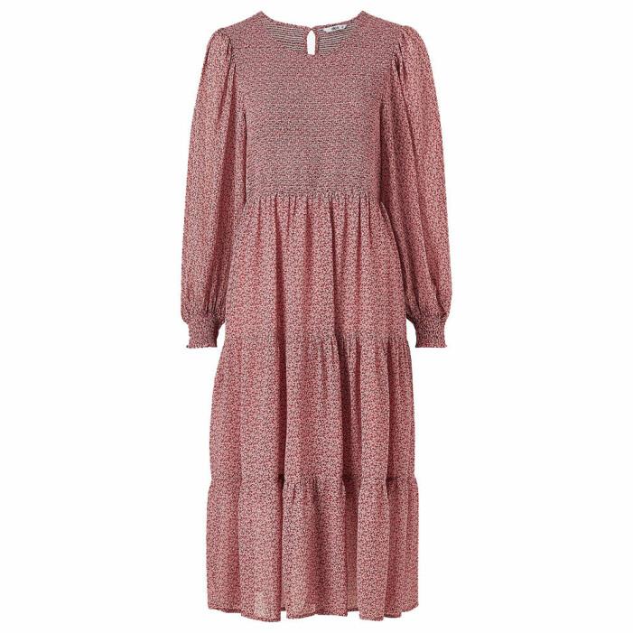 mönstrad rosa klänning