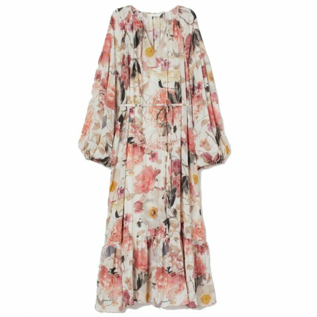Blommig mamaklänning från H&M