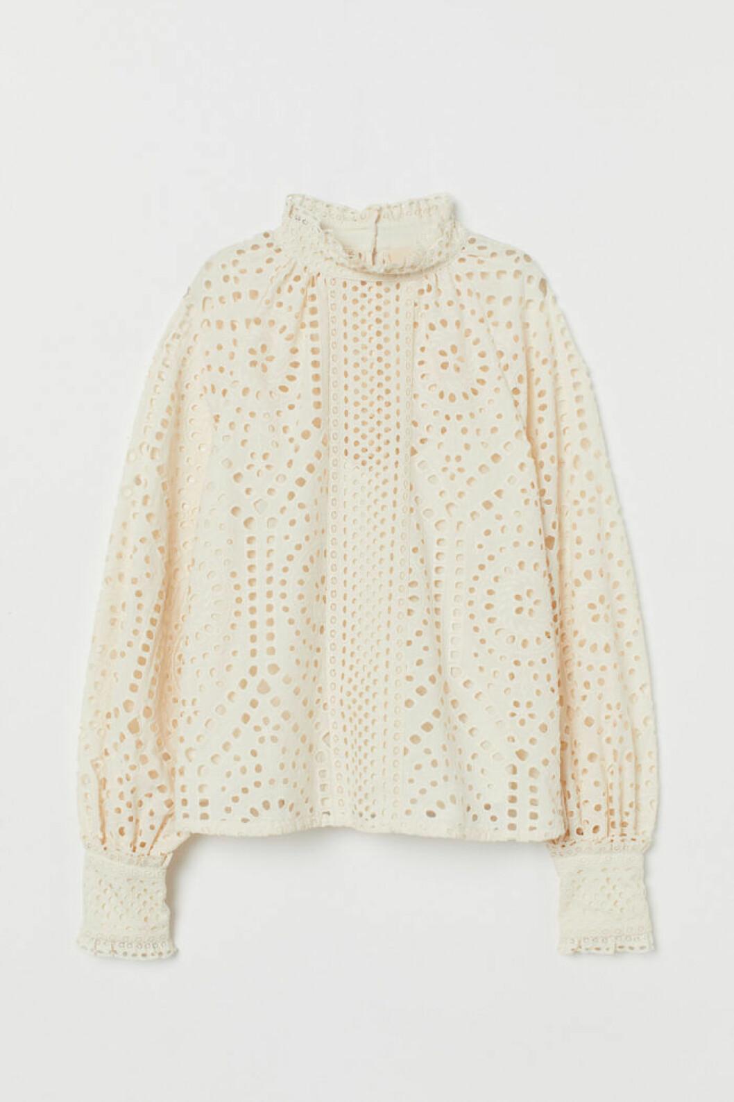 vit blus från H&M