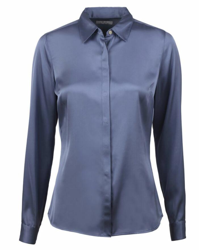 Blå blusskjorta