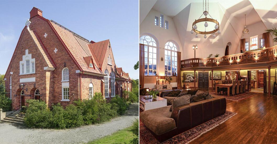 Bo i en kyrka - mysig inredning inspiration