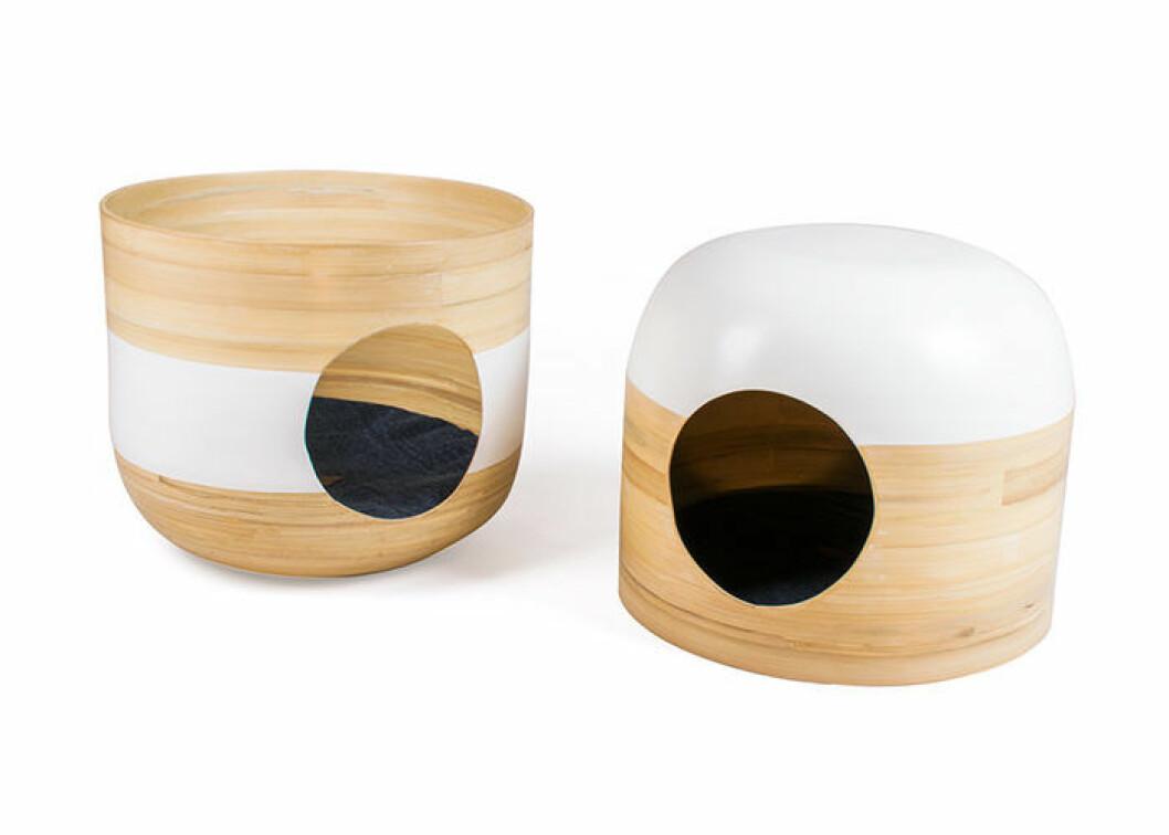 Bobo Nest i bambu för katter från Miwo Design