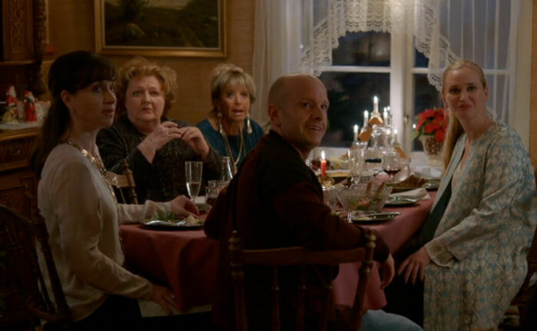 Bonusfamiljen firar jul