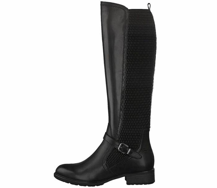 boots i läder tamaris