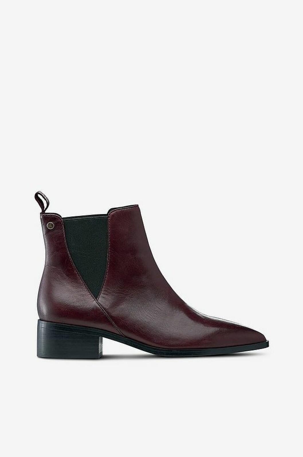 Vinröda boots från Ellos