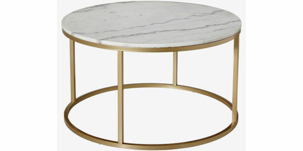 Soffbord i marmor med metallben