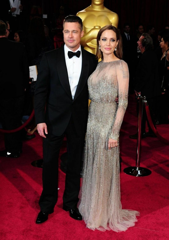 Brad Pitt och Angelina Jolie på Oscarsgalan 2014