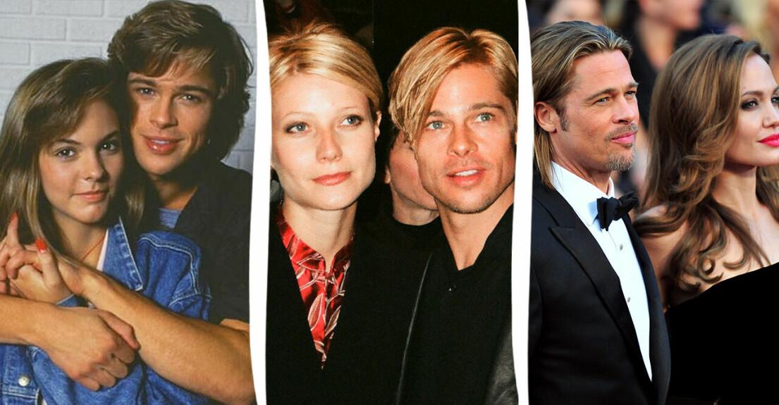 Brad och Gwyneth i blond snedbena, Jolie och Pitt i mellanbrunt med samma frisyr