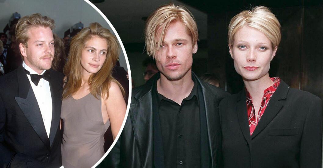 brad pitt och gwyneth paltrow samt julia roberts och Kiefer Sutherland