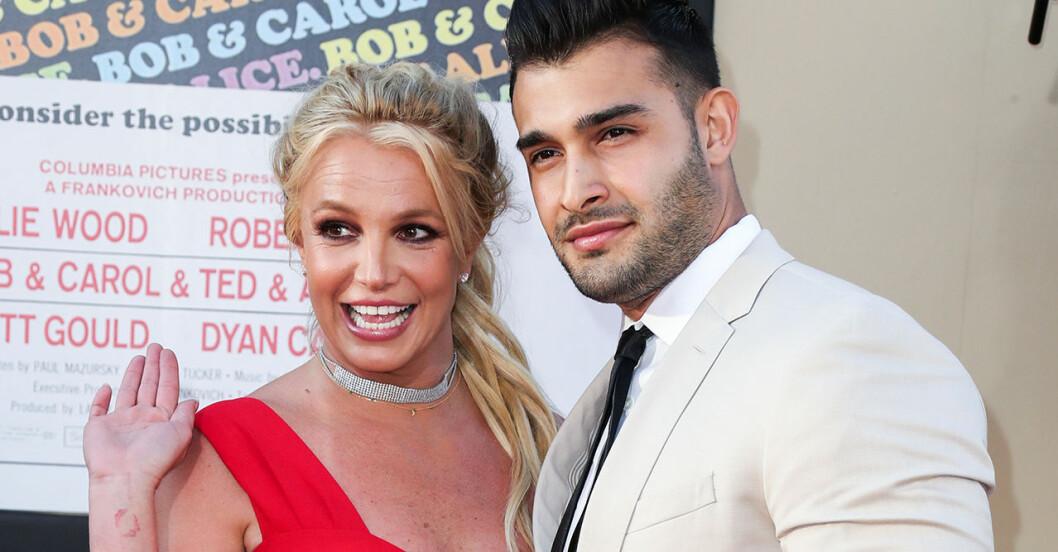 Britney Spears och Sam Asghari.