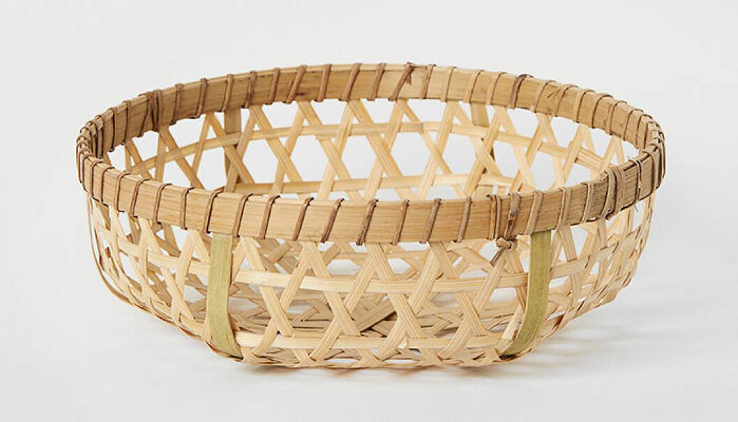 brödkorg i flätad bambu från H&M Home