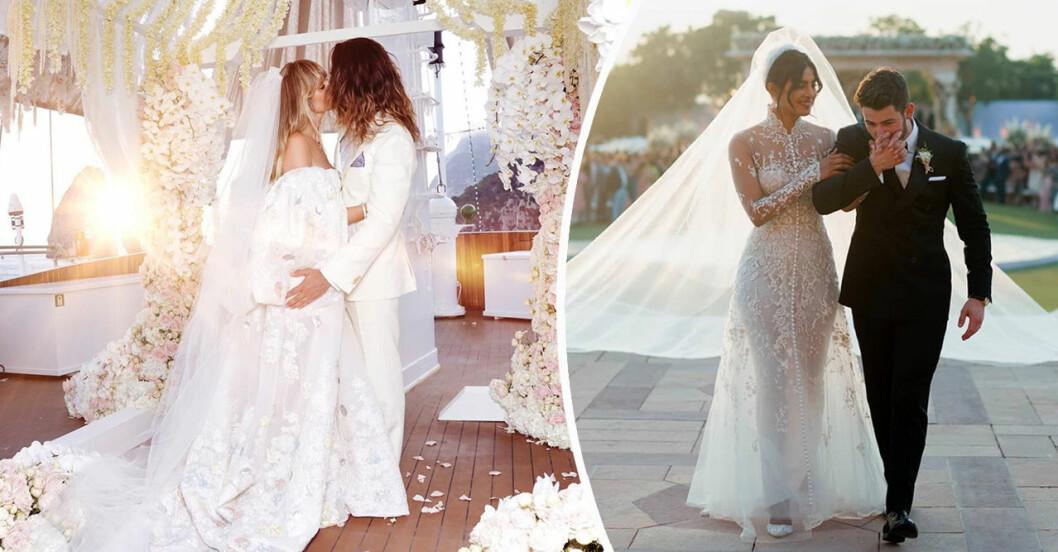 Heidi Klum och Priyanka Chopra bröllop