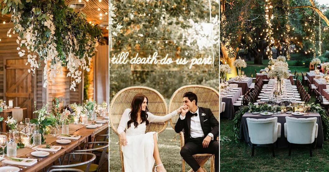 Bröllopstrender 2019