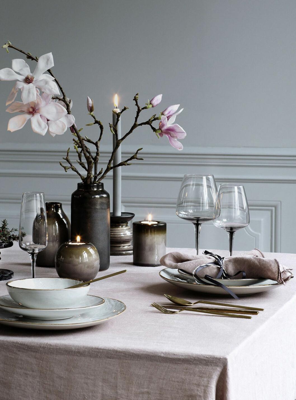 vårdukning med magnolia