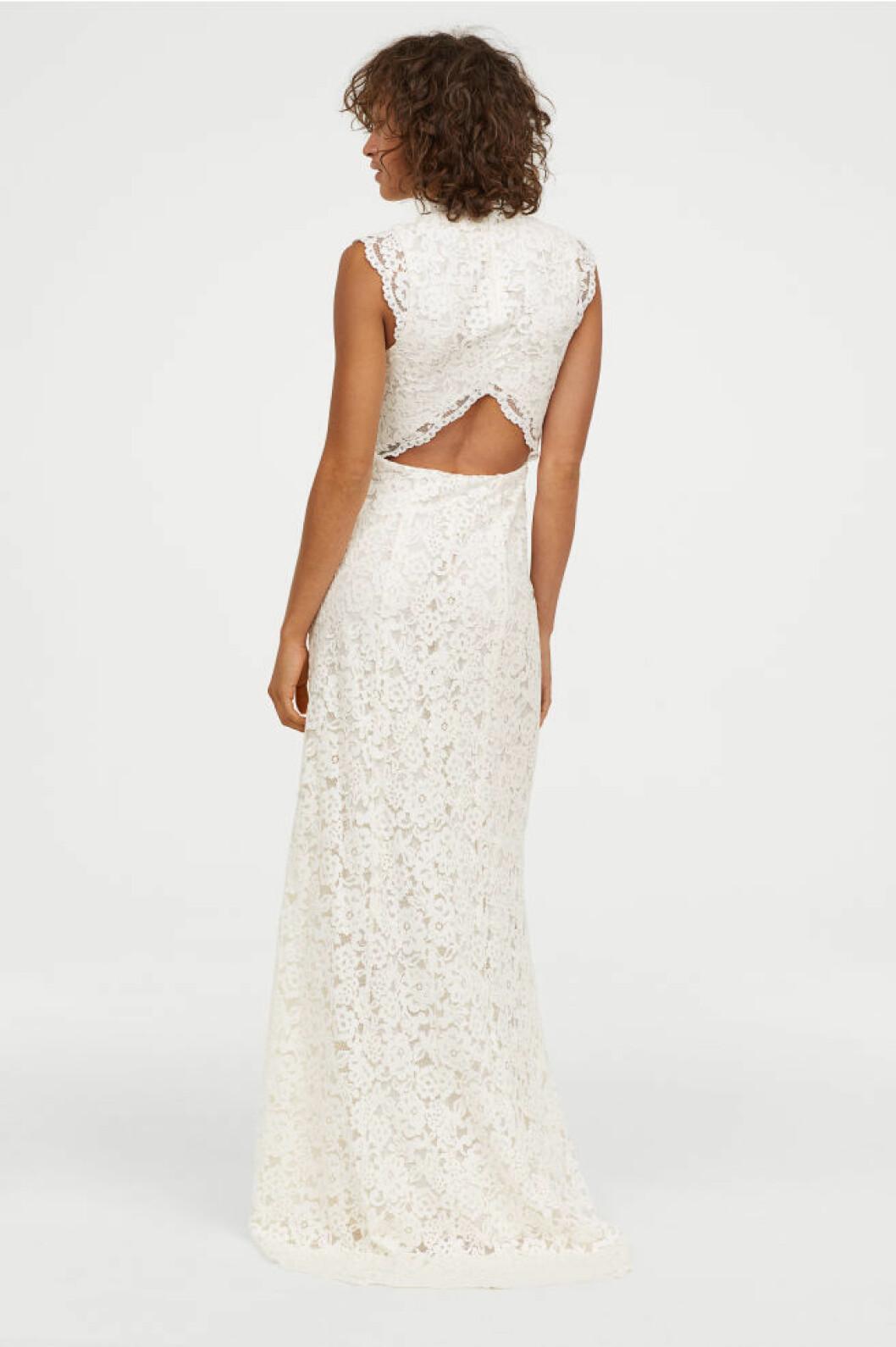 Brudklänning med öppen rygg från H&M