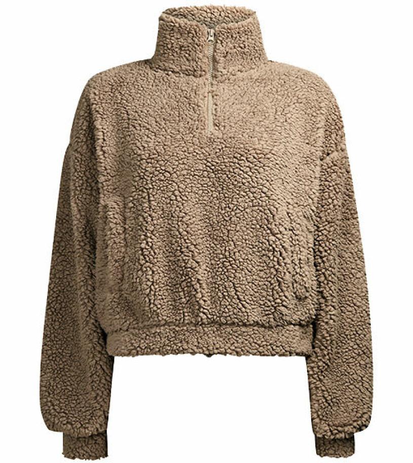 brun fleece bikbok