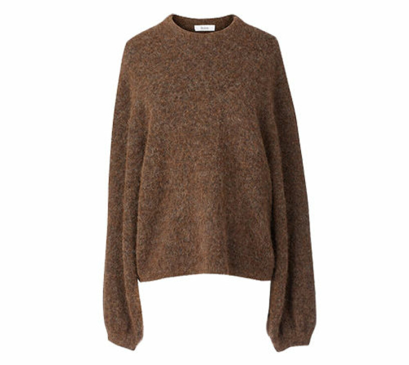 brun stickad tröja från stylein