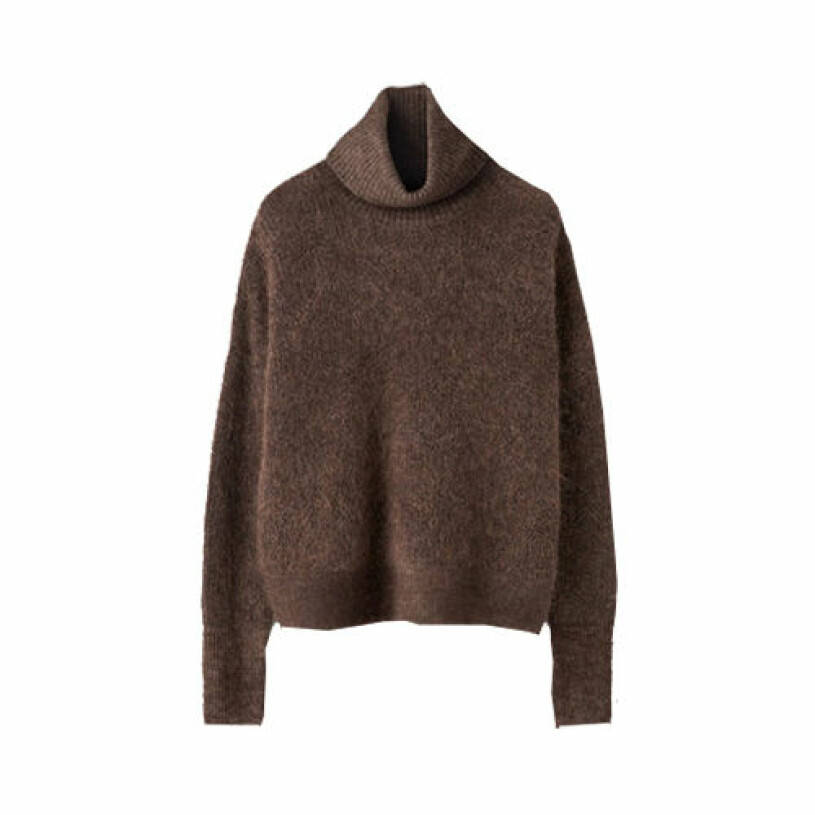 brun stickad tröja från tiger og sweden