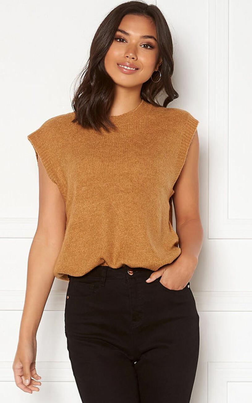 brun-stickad-vast-vero-moda